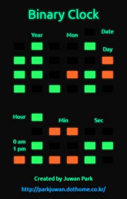 Radium Clock Webapp (Binary Ver.)