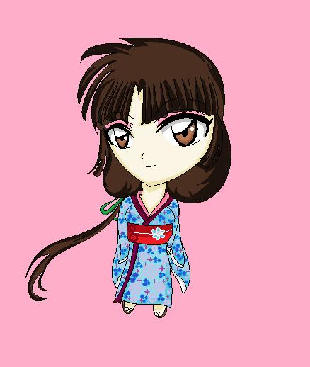 Chibi Yukata Sango by hanyou-lover1