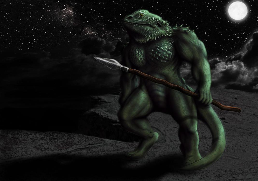 Bearded Dragon Lizardman by Garraz