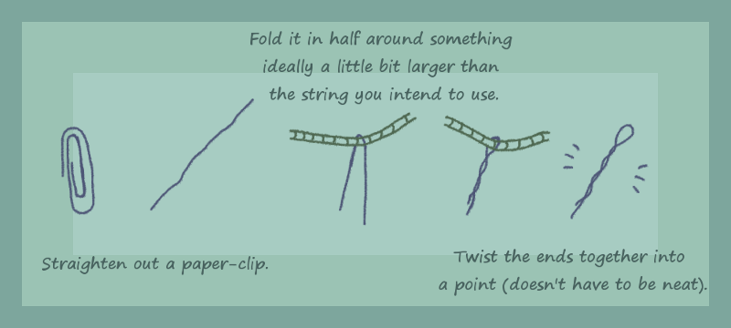 String needle guide by pan77155