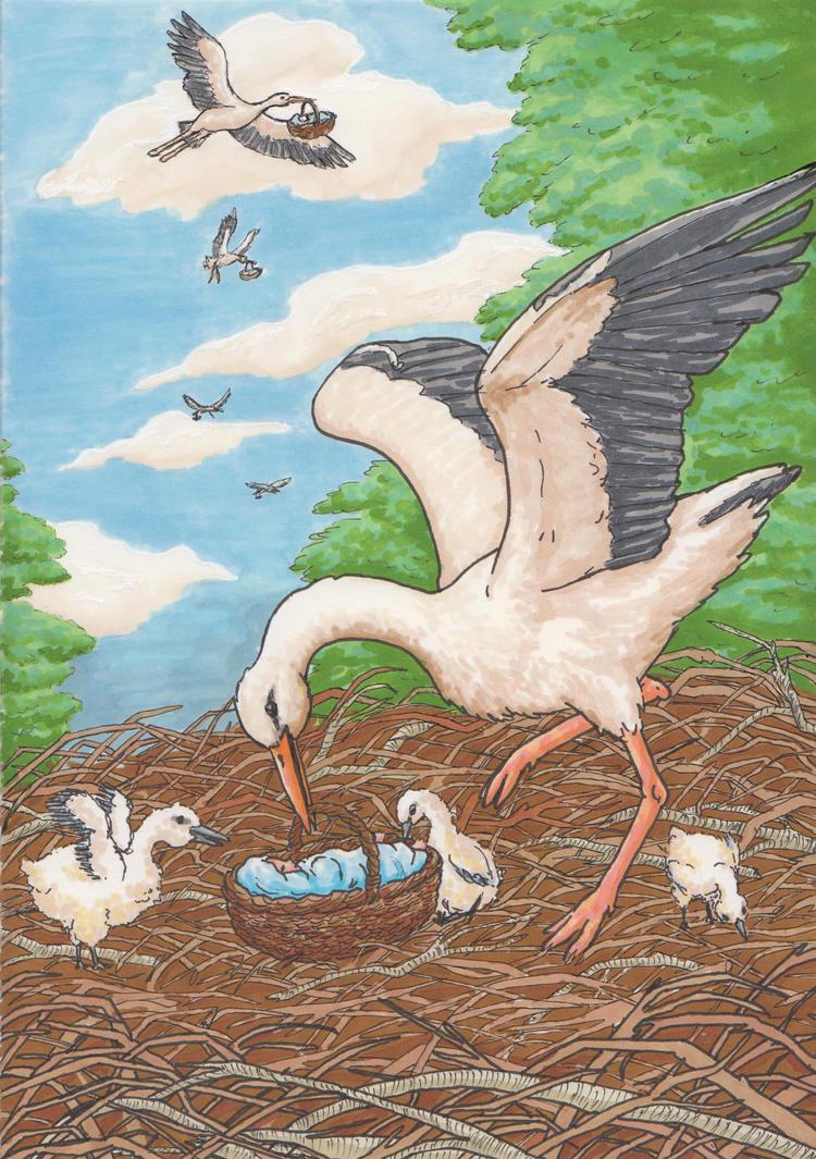 Stork card by pan77155