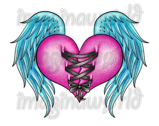 heart strings tattoo by imaginaworld on deviantart. Black Bedroom Furniture Sets. Home Design Ideas