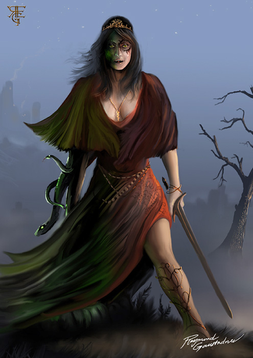 Evil sorceress by Shockbolt on DeviantArt