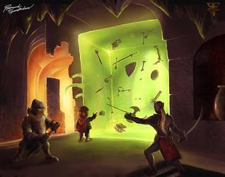 The gelatinous green cube by Shockbolt