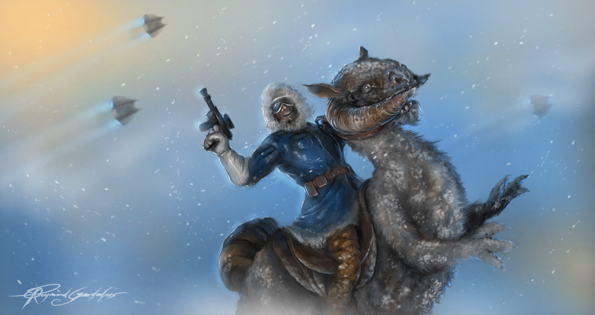 Star Wars - Han Solo on Hoth by Shockbolt