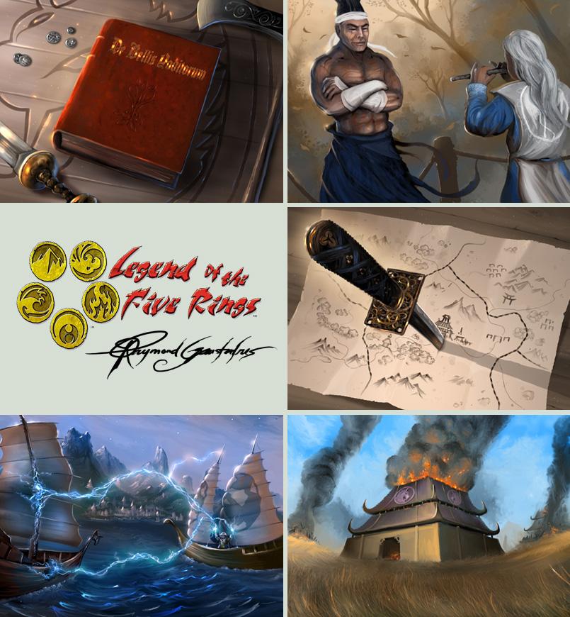 Ilustraciones Legend_of_the_five_rings___art_by_Shockbolt