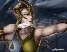 Elven archer by Shockbolt