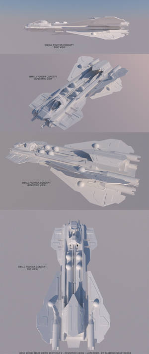 Spaceship concept - small starfighter B