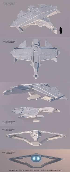 Spaceship concept - small starfighter C