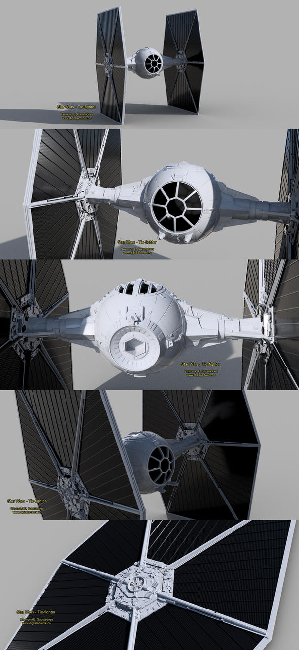 Star Wars - Tie-fighter vehicle 3D model by Shockbolt