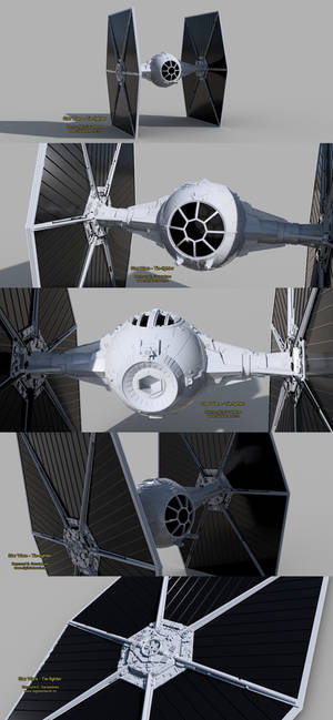 Star Wars - Tie-fighter vehicle 3D model
