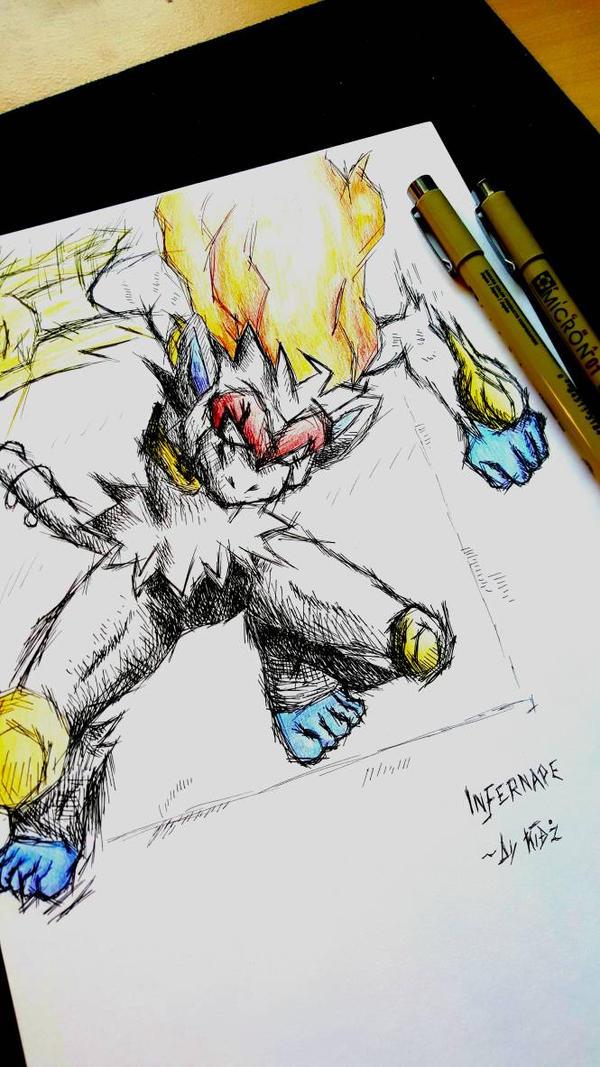 'Infernape'~ Pokemon Insanity by CreepyGamerKid