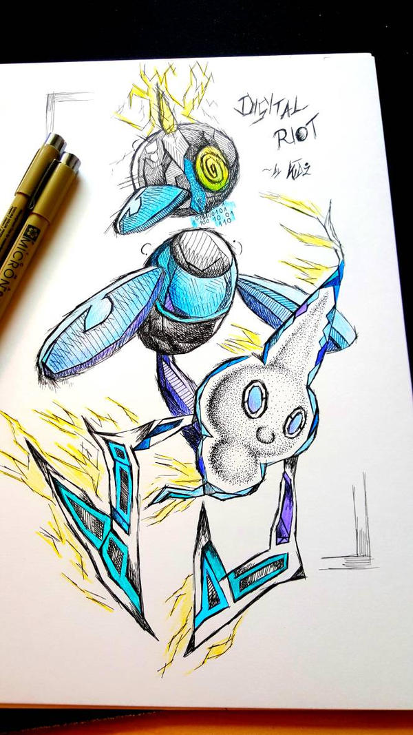 'Digital Riot'~ Pokemon Insanity by CreepyGamerKid