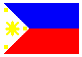 Pixelated Philippine Flag by PixelDevianArt