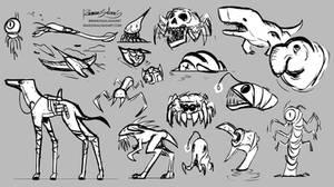 Creature Alien Design - Sketch