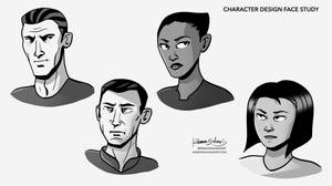 Character Design Style Face Study