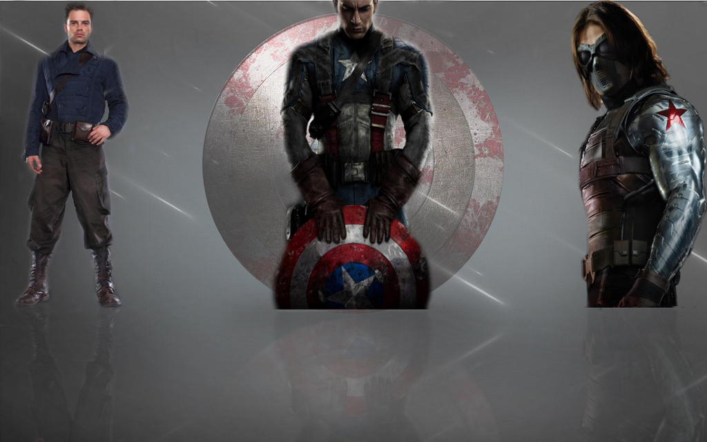 Captain America and Winter Soldier Wallpaper 2 by AnyaYuy on