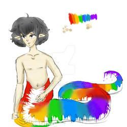 Naga Rainbow Sketch Color