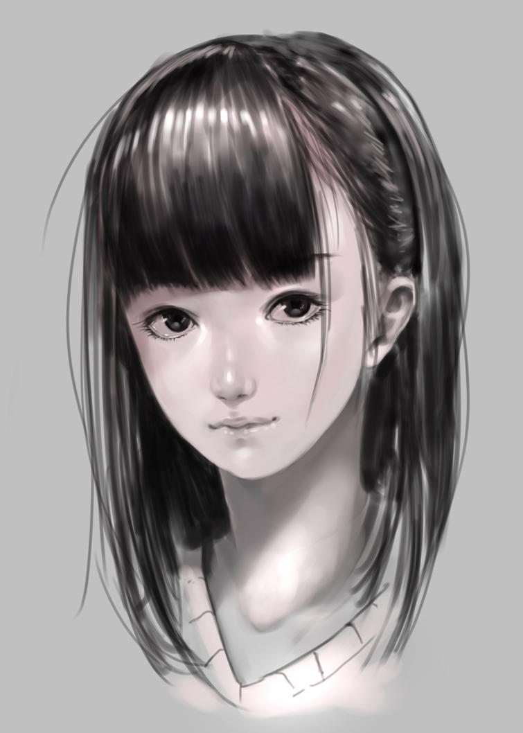 Girl face by DigitalOme