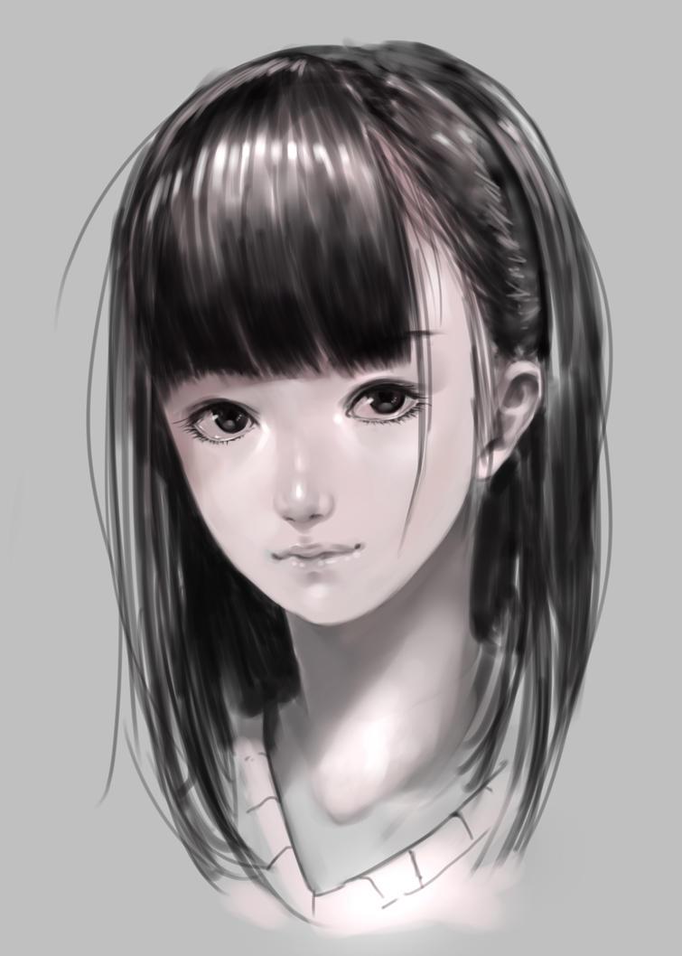 Girl face by DigitalOme
