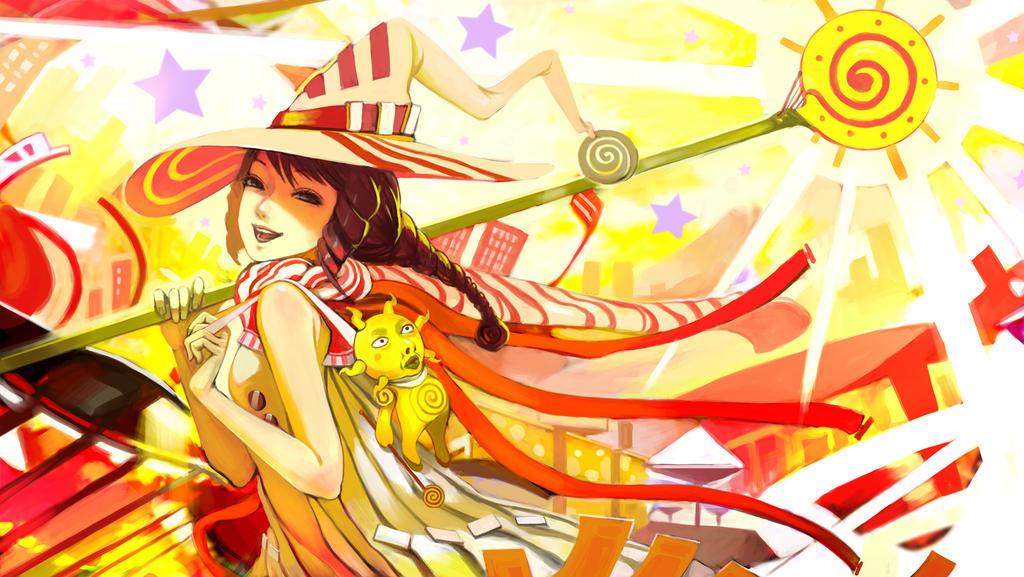 Yellow Pop by DigitalOme