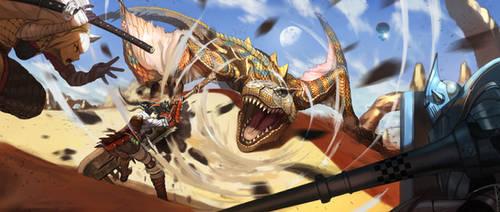 Monster Hunter - Creampu Vs Tigrex by DigitalOme