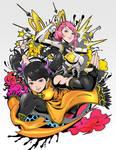 Tekken 7 Xiaoyu and Alisa in manga pop style