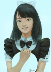 Cute Maid Cherprang from bnk48 by DigitalOme