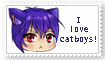 I love catboys stamp by orchidkitty