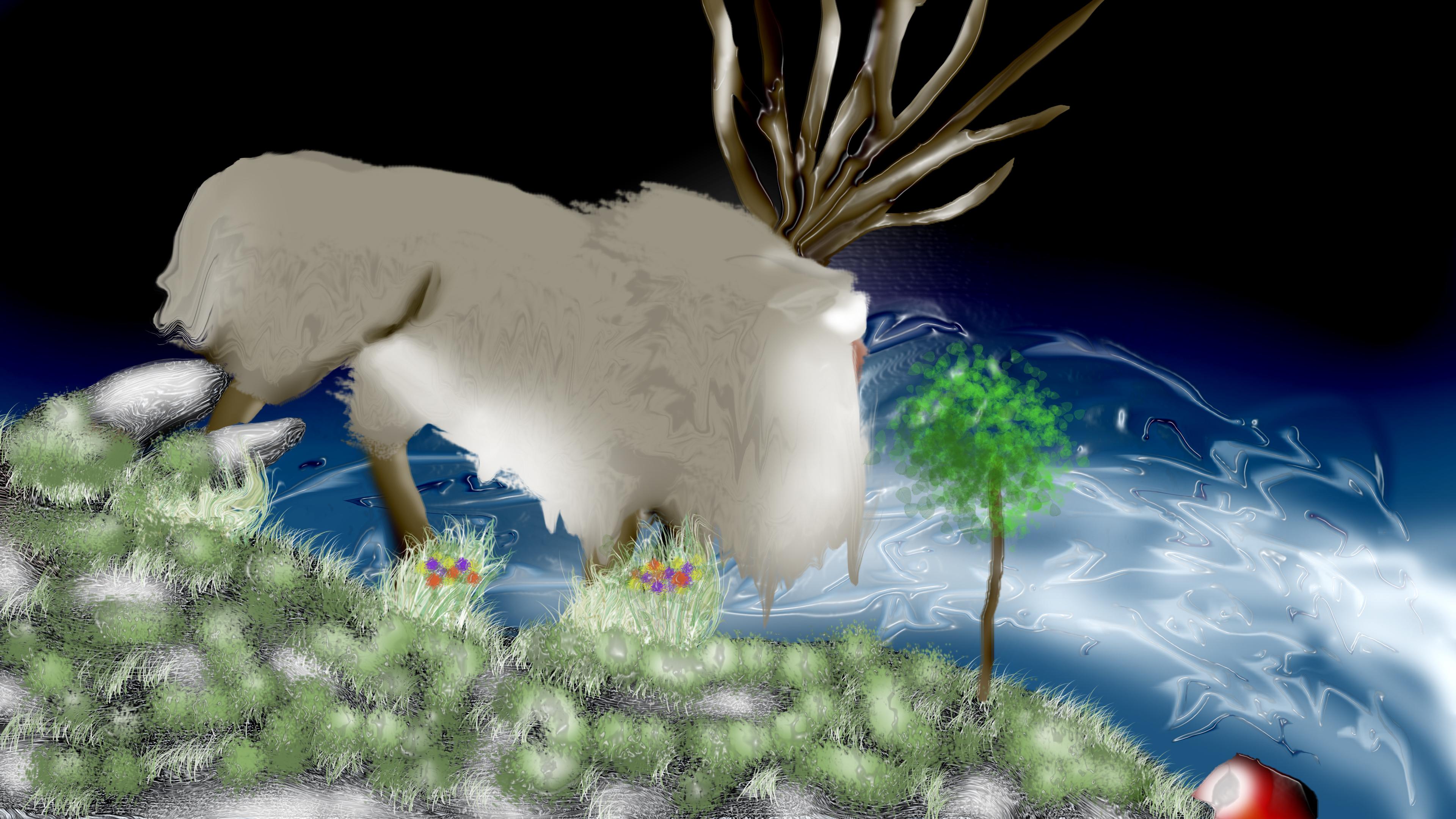 Forest Spirit and Ashitaka - Princess Mononoke by ...