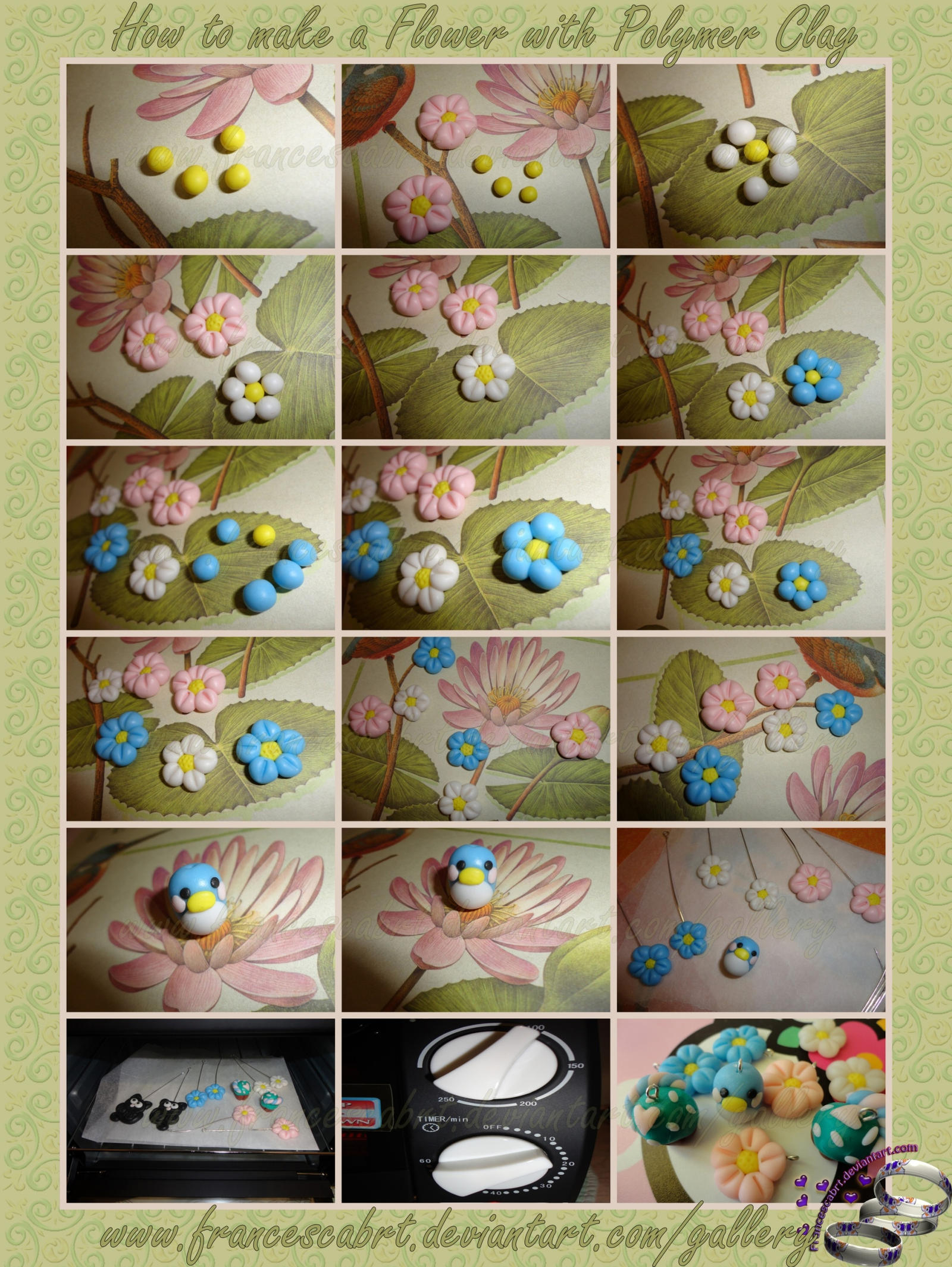 Tutorial How to make a Flower with Polymer Clay by FrancescaBrt on DeviantArt