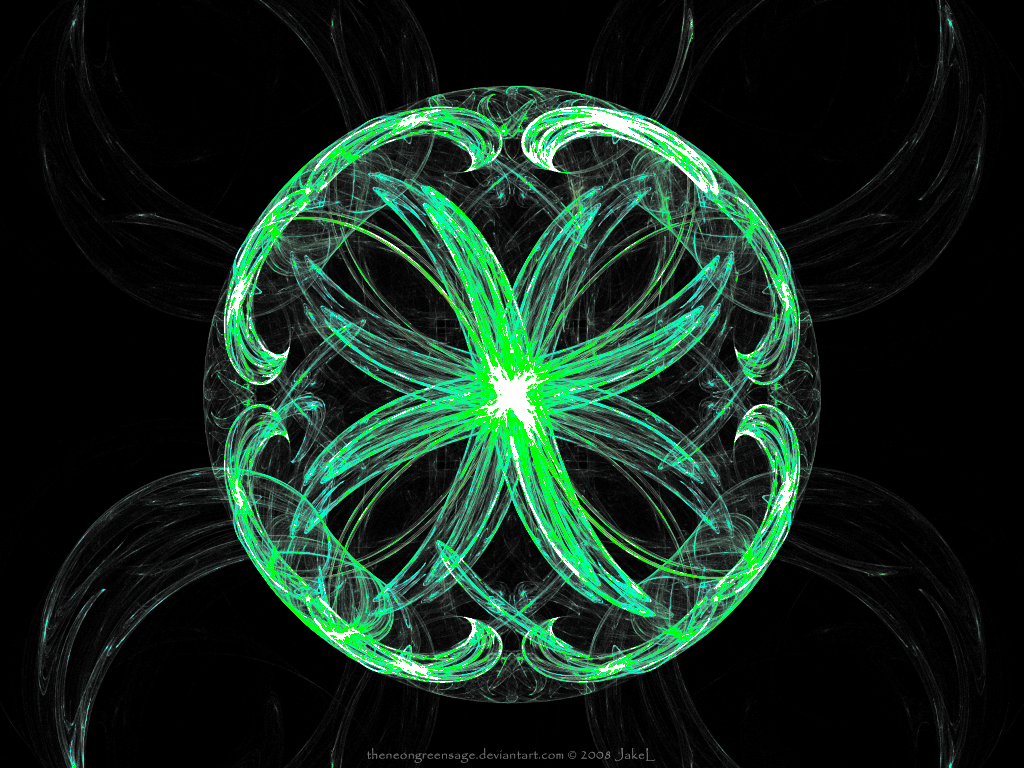 Popular Wallpaper Music Neon Green - the_neon_green_fractal_by_theneongreensage  You Should Have_463459.png