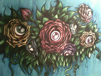 Eyeflower - Watercolor by poltergeist