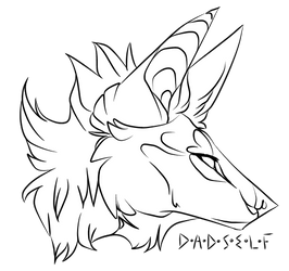 Free Headshot Lineart by NVSTY