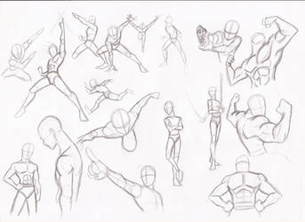 Male poses by RikuGloomy