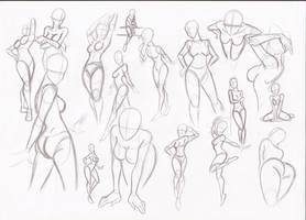 Female poses by RikuGloomy
