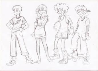 Cartoon teenagers by RikuGloomy