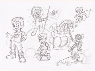 Cartoon boy by RikuGloomy