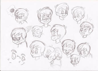 Boy's faces study by RikuGloomy