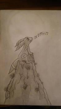 Sketch Umbreon in the Moonlight