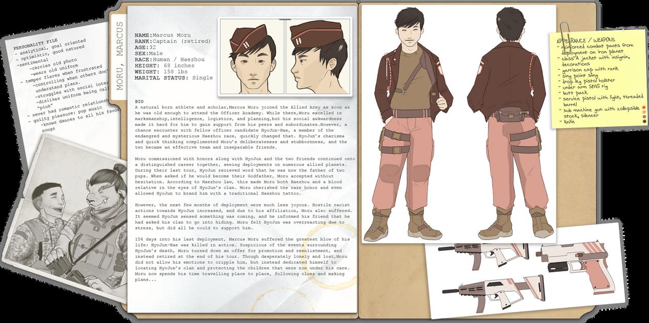 Marcus Moru - character design by hapa-haole