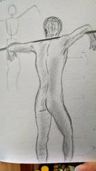 Live figure drawing attempt