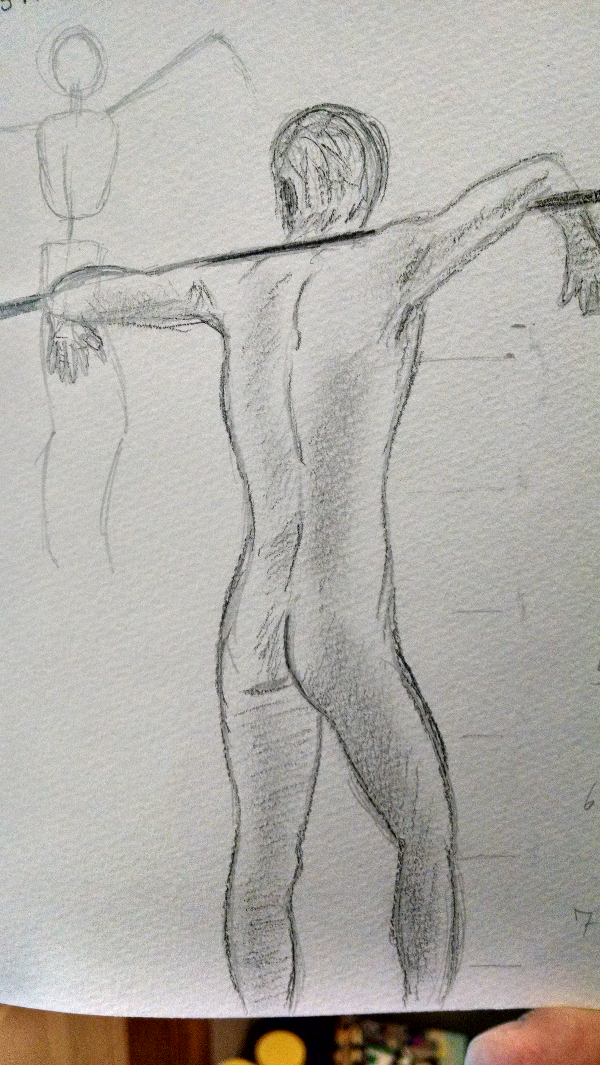 Live figure drawing attempt by Benjorr