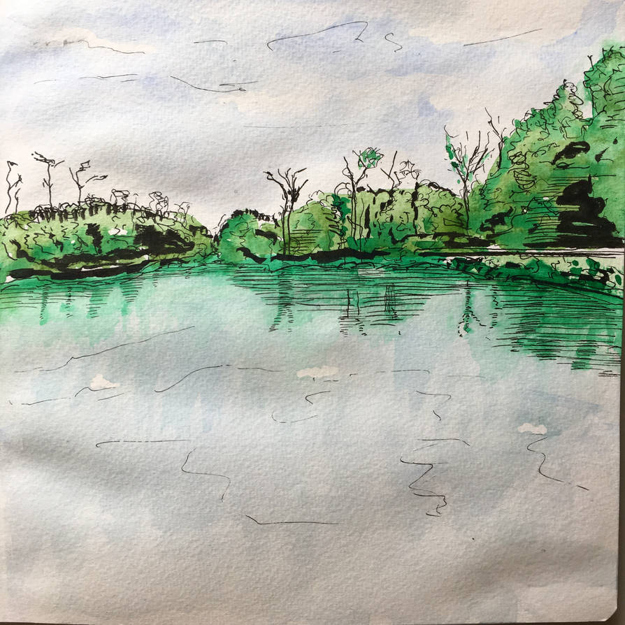 Lake in Homewood, IL by Benjorr