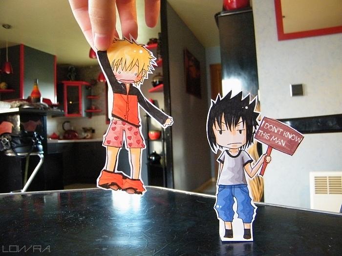 Naruto And Sasuke Paperchild By Mllelowra On Deviantart