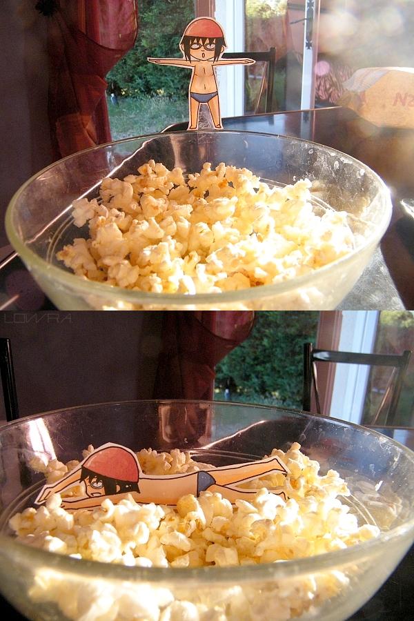 Sasuke like popcorn-Paperchild by MlleLowra