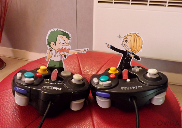 Sanji VS Zoro - Paperchildren by MlleLowra