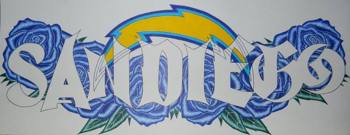 Blaze 1 Productions San Diego Chargers Nameplate By