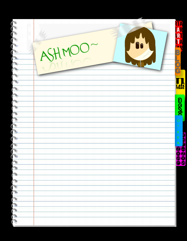 the notebook front page by ashmoo