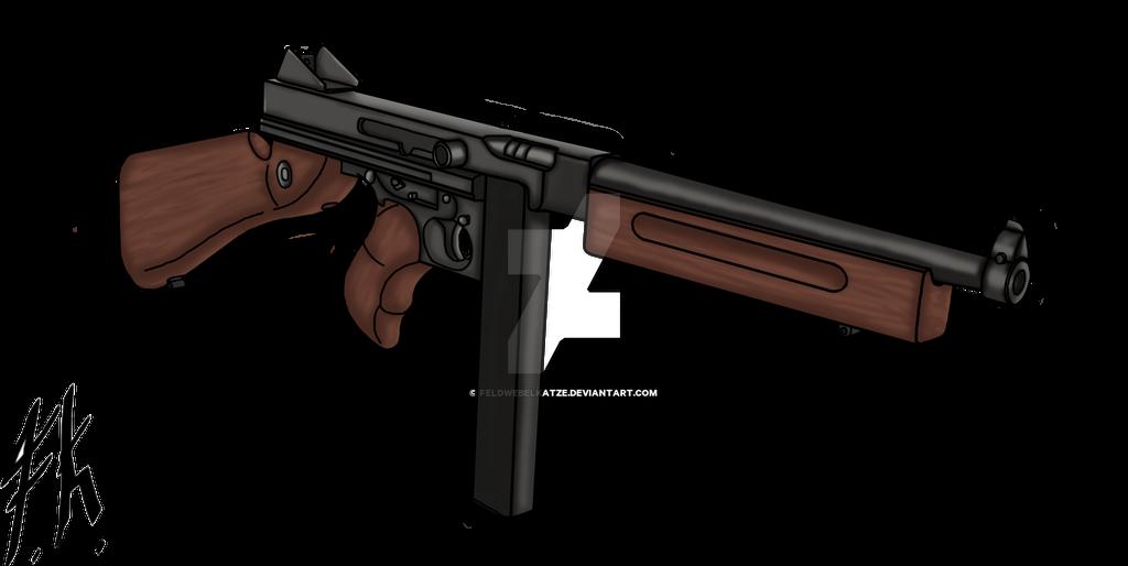 Thompson M1A1 by FeldwebelKatze on DeviantArt